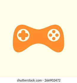 Gamepad icon. Vector. Flat design style