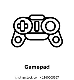Gamepad icon vector isolated on white background, Gamepad transparent sign , line or linear sign, element design in outline style
