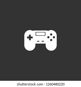 gamepad icon vector. gamepad sign on black background. gamepad icon for web and app