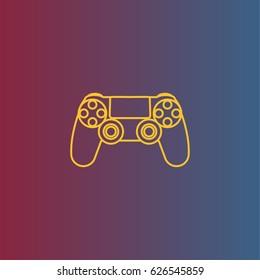 Gamepad icon. Video game controller, joystick vector