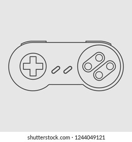 Gamepad icon Videogame controller Vector illustration Linear symbol