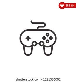 Gamepad icon-joystick, controller , joypad vector line icon, simple linear pictogram