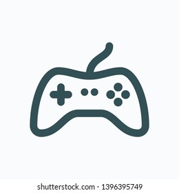 Gamepad isolated icon, game controller outline vector icon