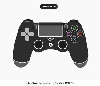 Gamepad or joypad controller for a video game console, vector eps 10