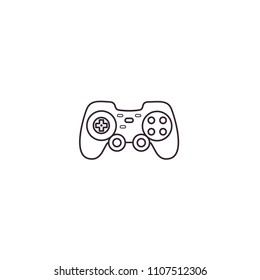 Gamepad, joypad, joystick, controller for game console and videogames - thin line icon on isolated background.