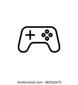 gamepad, joystick, controller line black icon