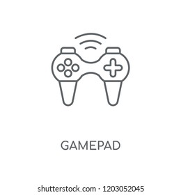 Gamepad linear icon. Gamepad concept stroke symbol design. Thin graphic elements vector illustration, outline pattern on a white background, eps 10.