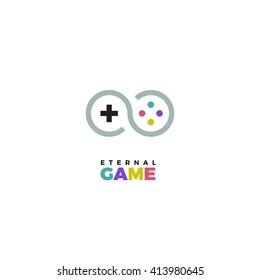 gamepad logo vector joystick game illustration videogame best company icon