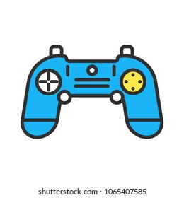 gamepad outline illustration symbol object. Thin line icon style concept design