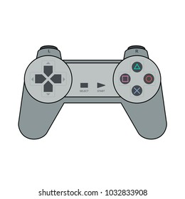 Gamepad for Playstation in flat design