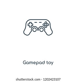 Gamepad toy concept line icon. Linear Gamepad toy concept outline symbol design. This simple element illustration can be used for web and mobile UI/UX.