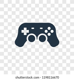 Gamepad toy vector icon isolated on transparent background, Gamepad toy transparency logo concept