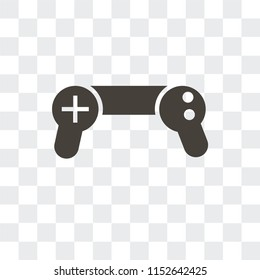 Gamepad vector icon isolated on transparent background, Gamepad logo concept
