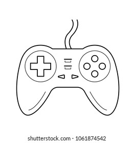 Gamepad vector line icon isolated on white background. Joystick controller line icon for infographic, website or app.