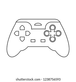 Gamepad videogame device in black and white