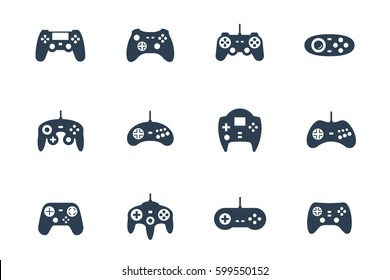 Gamepads vector icon set