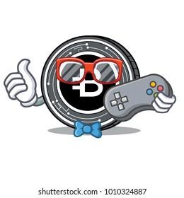 Gamer Bytecoin coin mascot cartoon