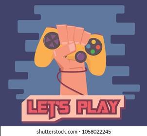 Gamer cartoon illustration