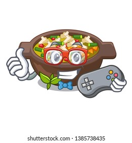 Gamer fried minestrone in the cup character
