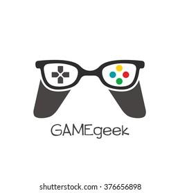 Gamer Geek Logo Vector Illustration