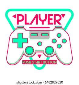 gamer joypad console controller illustration tee shirt wallpaper logo poster graphic print design