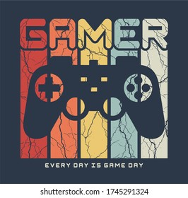 GAMER Typography tee shirt design vector