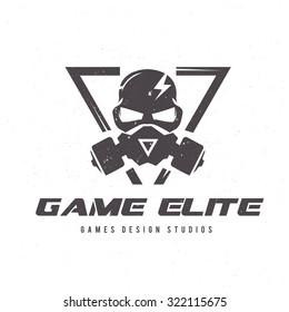 Games logo  Vector logo template