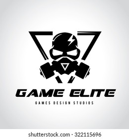 Games logo,Vector logo template