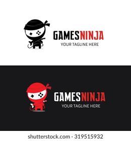 Games Ninja Logo Template