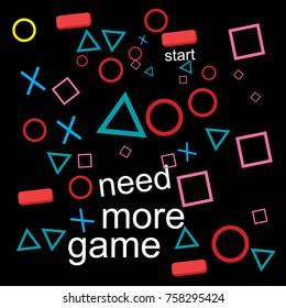 gaming logo vector icon  shirt design template