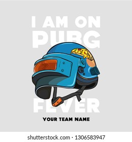 GAMING METAL HELMETS, TOURNAMENT THEME PRINTS, T-SHIRT TEAM ICONS AND SYMBOLS, GAME THEME PUBG