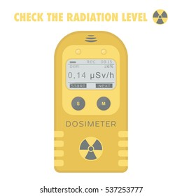 Gamma Radiation Personal Dosimeter. Vector illustration.