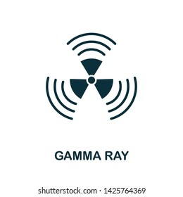 Gamma Ray vector icon illustration. Creative sign from biotechnology icons collection. Filled flat Gamma Ray icon for computer and mobile. Symbol, logo vector graphics.