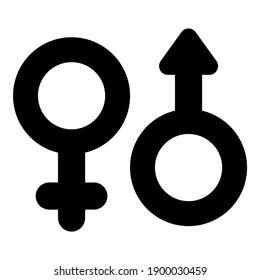 gander symbol, couple black icon
