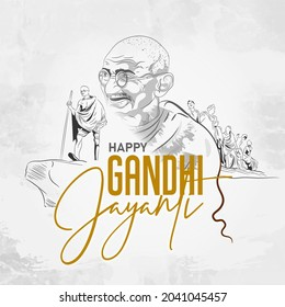 Gandhi Jayanti is a national holiday in India. - Shutterstock ID 2041045457