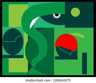 Ganesh Chaturthi Indian god-vector drawing on green color