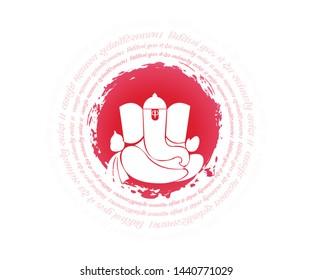 Ganesh Indian God vector abstract
