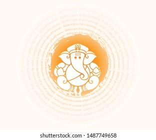 Ganesha Festival, Lord Ganesha, India flat vector