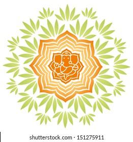 Ganesha Floral Vector 1