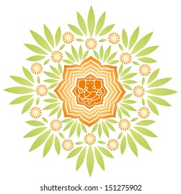 Ganesha Floral Vector 2