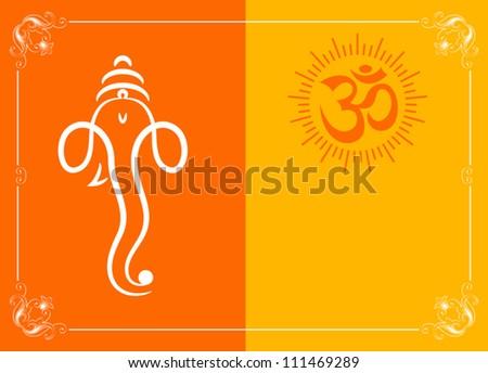 Ganesha greeting card stock vector royalty free 111469289 ganesha greeting card m4hsunfo