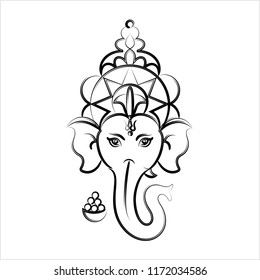 Line Art Ganesha Images Stock Photos Vectors Shutterstock