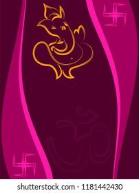 Ganesha The Lord Of Wisdom Design Vector Art Illustration