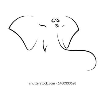 Line Art Ganesha Images Stock Photos Vectors Shutterstock