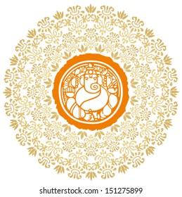 Ganesha Sunburst Vector 2