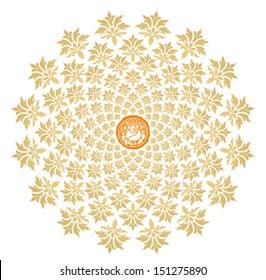 Ganesha Sunburst Vector 3
