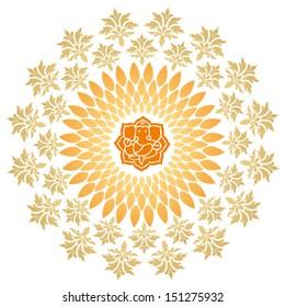 Ganesha Sunburst Vector 4