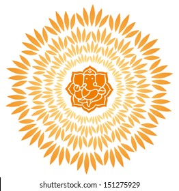 Ganesha Sunburst Vector 5