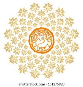 Ganesha Sunburst Vector 6