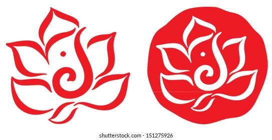 Ganesha Symbol Design Vector 3